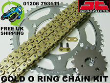 HONDA VFR400 NC30 R3L-M 90-93 NEW TRIPLE S O RING GOLD CHAIN & SPROCKET KIT SET