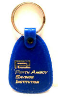 Vintage Perth Amboy Savings Institution - Bank Advertising Blue Color Key Fob