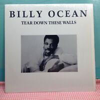 BILLY OCEAN  TEAR DOWN THESE WALLS LP Vinyl Record Arista SHRINK