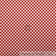 BonEful Fabric FQ Cotton Quilt Red White Stripe Plaid Block Square Race Car Boy