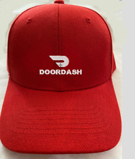 DOORDASH EMBROIDERY LOGO ON CAP RED OR BLACK