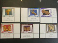 Israel Stamps - 1966 Museum Exhibits  Sg 342 - 7 MNH With Tabs.