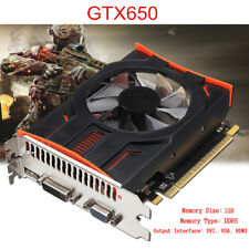 GTX650 DDR5 1GB 128Bit PCI-Express Video Graphics Card HDMI For NVIDIA GeForce