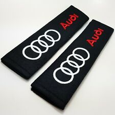 Audi Car Logo Embroidered Seat Belt Shoulder Cushion Safety Pads Set of 2x
