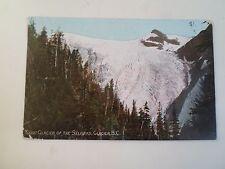 Old Postcard Great Glacier Of The Selkirks, Glacier, B.C. Canada Franked 1908