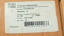 Cutler-Hammer C0100E1B 100VA 1PH 120/240 24V Secondary Control Transformer