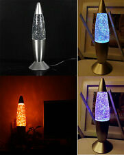 Multi Color Changing USB Rocket Lava Lamp LED Party Night Light Home Decoration