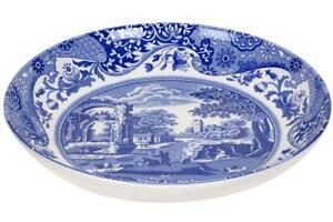 "Spode Blue Italian ceramic pasta bowl plate, 22cm (8.75"")"