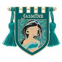 Disney Pin 122202 Princess Tapestry Jasmine Aladdin Royal Blue Banner Gold Rod