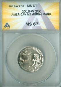 2019-W Washington quarter ATB American Memorial Park  ANACS MS-67 (2127156)