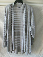 Nic+Zoe Open Front Cardigan Sweater -Gray Mix -Size 3X- NWT $168