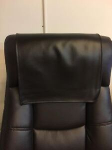 "PVC Black Recliner, 30"" x 30"" Head Rest Cover Vinyl Sofa seat Chaise"
