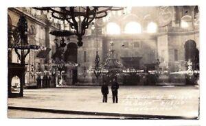 1920 RPPC INTERIOR SOPHIA MOSQUE CONSTANTINOPLE TURKEY original photo postcard