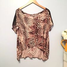 JENNIFER LOPEZ SEXY LEOPARD PATTERN  BLOUSE  SIZE XL MADE IN PHILIPPINES