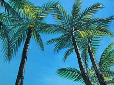 Key West 1, Palm Tree, Original Acrylic Painting, Signed, Art, Framed, 24x18