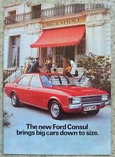 FORD CONSUL, L & GT Car Sales Brochure 1972 #FA 704/48312/300M/722/DOM