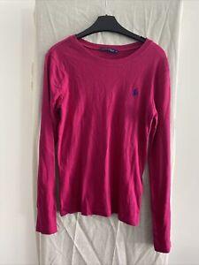 RALPH LAUREN Pink Long Sleeve Lightweight Jumper Size M