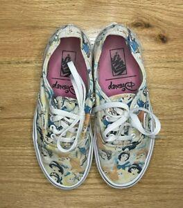 Disney Princess Vans Size 7 Snow White Jasmine Ariel Belle lace up