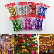 12XAlbero Natale decorazioni di palline di Baubles Party Wedding Ornament&2
