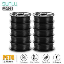 10Rolls SUNLU 3D Printer Filament PETG 1.75mm 1KG/2.2LB Spool Printing supplies