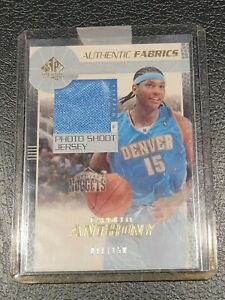 2003-04 SP Authentic Fabrics Carmelo Anthony #'d 11/150 PATCH RC #CY-J