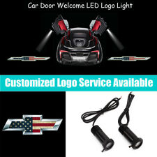 US Flag Chevrolet Logo Car Door LED Light Projector for Equinox Impala Silverado