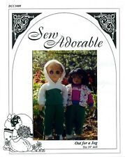 "Sew Adorable 18"" Girl Doll Clothes Pattern, American, Out for a Jog"