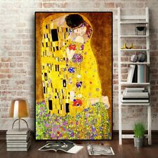 The Kiss by Gustav Klimt Painting Canvas Wall Art Paintings Decoration Classic