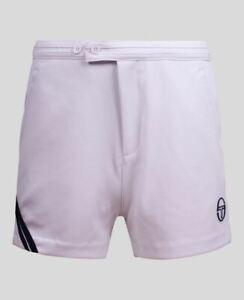 Sergio Tacchini McEnroe Time Tennis Shorts in White & Navy