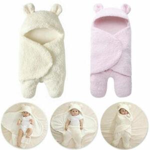 Baby Swaddle Wrap Pucktuch Baumwolle Wickeltuch Pucksack Schlafsack 0-6 Monat DE