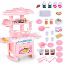 Kitchen Cooking Pretend Role Play Toy Cooker Set Children Kids Light Sound Gift