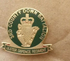 3rd county down ulster defence regiment udr badge army Enamel, Infantry Military