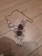 Flower Necklace with stones.