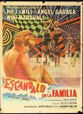395 Escandalo en la Familia, original Mexican Movie Poster, Pili y Mili