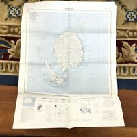 1971 Vintage Military Map of Fiji Ovalau Island Lomaiviti Archipelago War Office