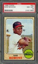 1968 Topps Sam Bowens #82 - Baltimore Orioles - PSA 8 - NM-MT