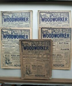 The Woodworker Magazine Nos. 123, 124, 129, 130, 131. VOL.XI, 1908