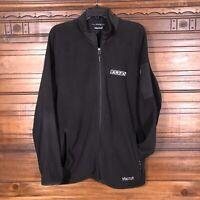 Marmot Full Zip Polartec Fleece Jacket Black Cobranded Men's Size XL