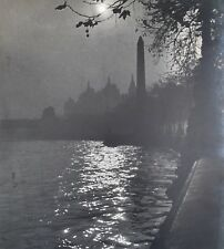 London Embankment 1950 Photograph by R.H. Tilbrook - Exhibited at R.B.A. Gallery
