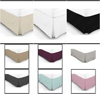 4ft Small Double Plain Dyed Poly CottonBase Valance Box Pleated Sheet Bed