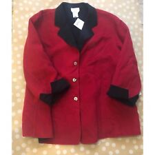 NEW TALBOTS Woman petites size 24W red black jacket coat