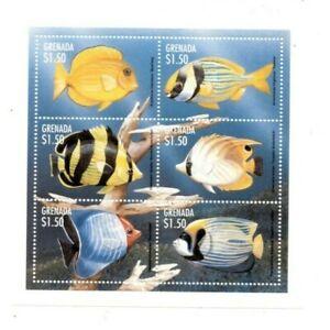 Grenada - 1997 - Fish - Sheet Of 6 - MNH