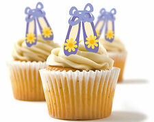 ✿ 24 Edible Rice Paper Cup Cake Toppings, Cake decs - Ballet shoes ✿