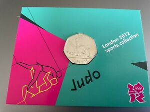 JUDO ROYAL MINT DISPLAY CARD 2012 OLYMPICS WITH 50p COIN MINT RARE