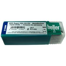 Heller 8mm HSS-G Super Giro Metal Brocas 10 Pack HSS Suelo-German herramientas