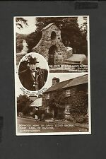 Valentine Vintage Real Photo Postcard Boyhood Home Lloyd George unposted