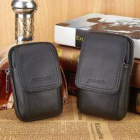 Men Leather Mobile Phone Cigarette Case Belt Fashion wild wallet Waist Bag