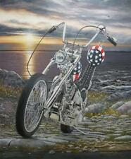 Easy Rider Harley Davidson Chopper Signed Ltd Ed Motorcycle Art Print by John G.