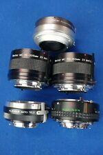 For Minolta MD mount x2 manual teleconverter 2x doubler lens Vivitar for X-700