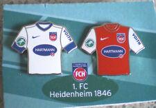 1.FC HEIDENHEIM 1846-2 TRIKOT PINS MIT HARTMANN WERBUNG-1.FC HEIDENHEIM-FU 119-